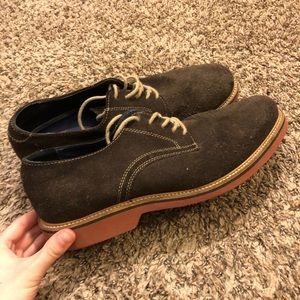 DONATING 14th & Union Brown Suede Derby Shoes